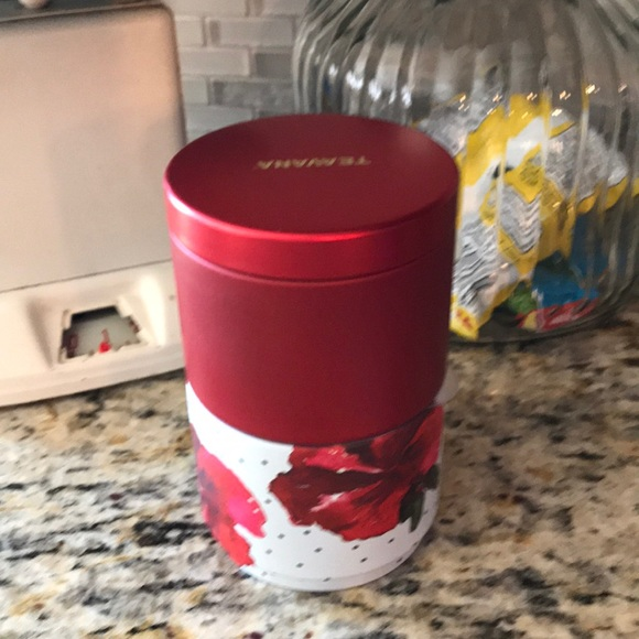 TEAVANA 4 oz Tin Can Tea Storage NEW